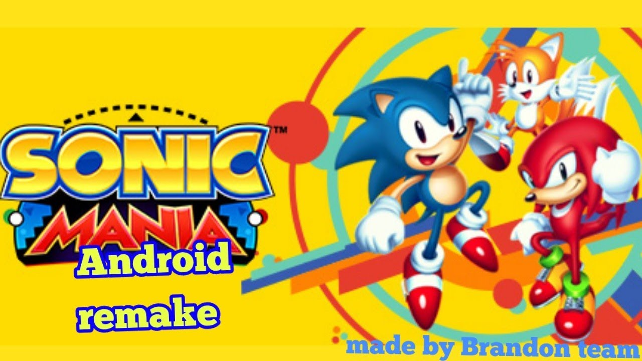 Sonic mania Android remake (by Brandon team) early beta!