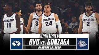 BYU vs. No. 1 Gonzaga Basketball Highlights (2019-20)   Stadium
