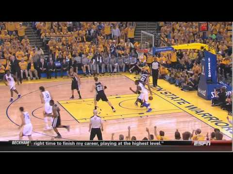 Tony Parker gets angry at Danny Green Spurs-Warriors Game 6