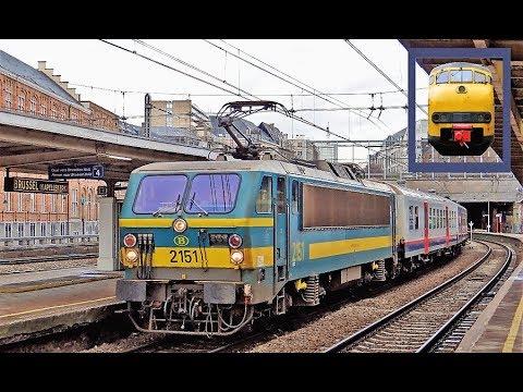Treinen op station Brussel Kapellekerk! (Gare de Bruxelles Chapelle)