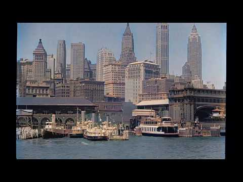 DeOldify | 1930s Lower Manhattan Waterfront and Ferries - Color HD