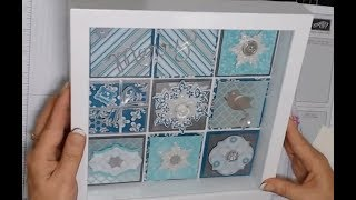 Free Online Class! Christmas Shadow Box. Stampin' Up!