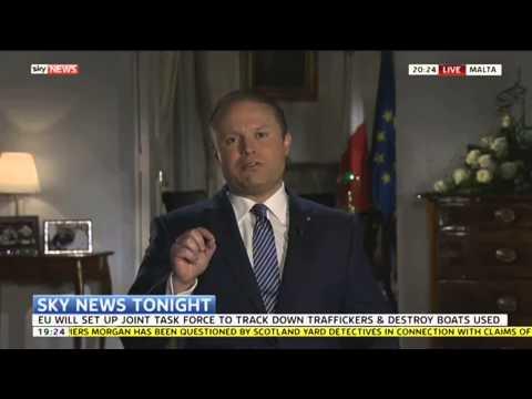 Joseph Muscat, Malta's Prime Minster, speaks to Sky News about the Mediterranean migrant crisis