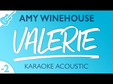 Amy Winehouse - Valerie (Karaoke Acoustic Guitar) Lower Key