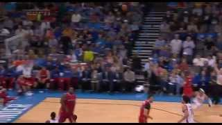 Russell Westbrook flops on Chris Paul: Los Angeles Clippers at Oklahoma City Thunder