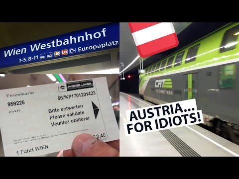 🇦🇹 AUSTRIA - How to GET AROUND! | Airport Transport, Vienna U-Bahn, Vienna to Salzburg Train