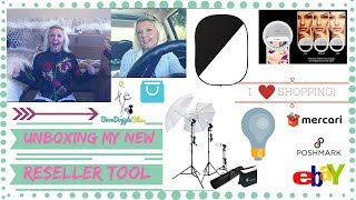 Unboxing New Reseller Tools - Photography Lights, eBay Swag, Stamps.com Scale & More!