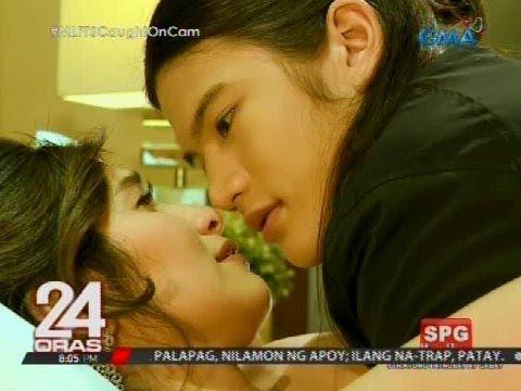 Kissing scene nina Jennylyn Mercado at Gil...