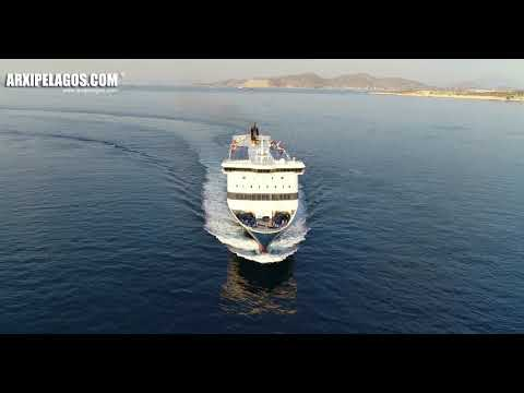 BLUE STAR 1 (Ro-Ro/Passenger Ship) arrival at Piraeus Port (