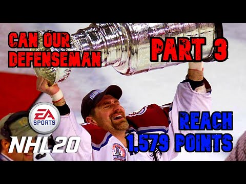 Part 3 in our series where we try to beat Ray Bourques all time points record by a defenseman!