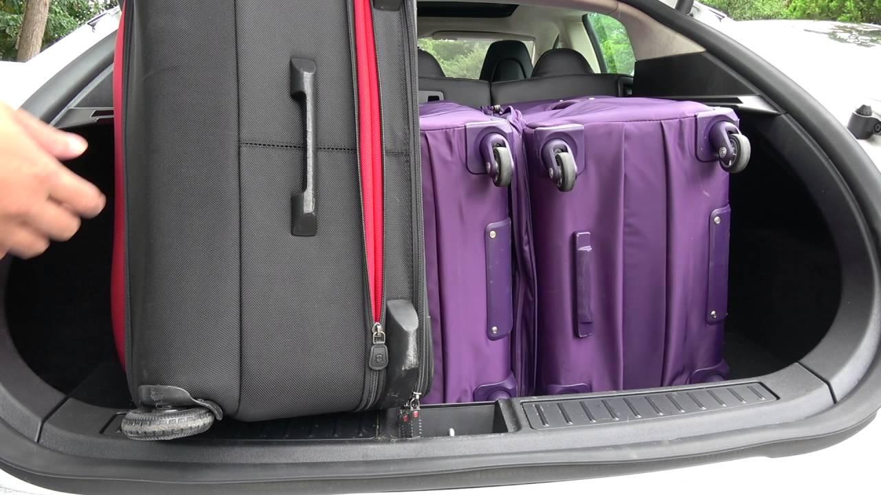 tesla model s trunk luggage capacity youtube