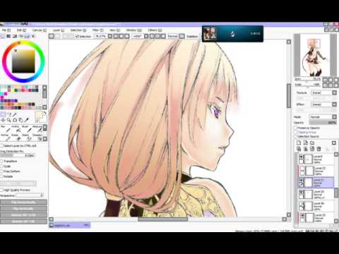 Change Color Of Lineart Later Paint Tool Sai