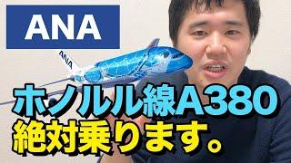 ANA A380「FLYING HONU」ホノルル便の詳細決定!!絶対乗ります。