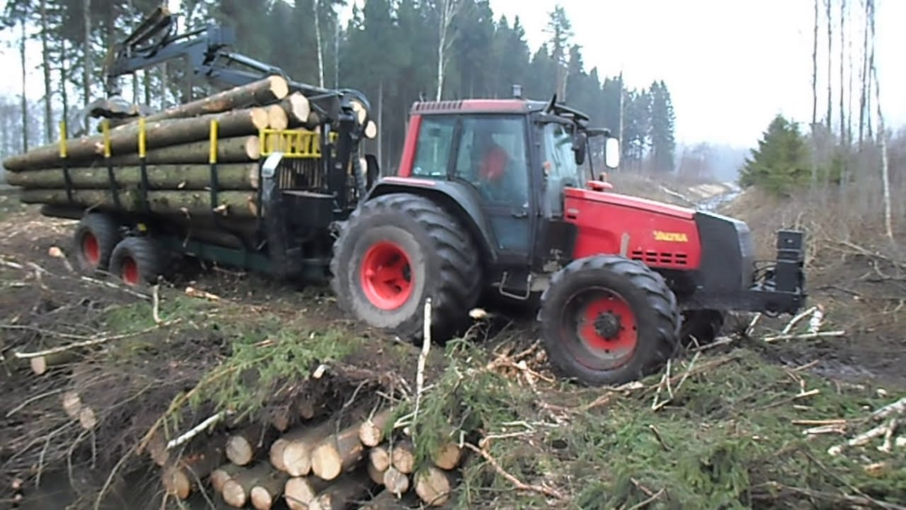 valtra good forestry tractor youtube. Black Bedroom Furniture Sets. Home Design Ideas