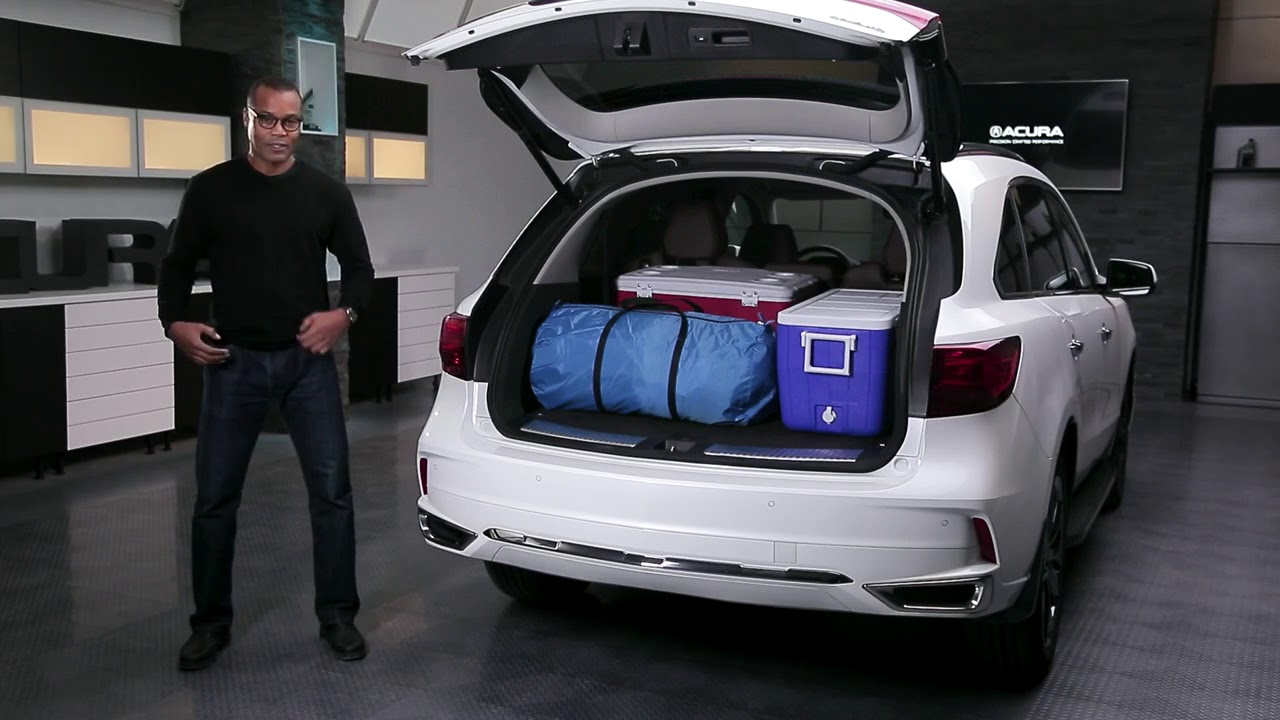 performance acura 2018 acura mdx cargo space youtube. Black Bedroom Furniture Sets. Home Design Ideas