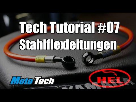 MotoTech Tutorial #07 - Bremse | Leitungen wechseln | Stahlflex | HEL Performance