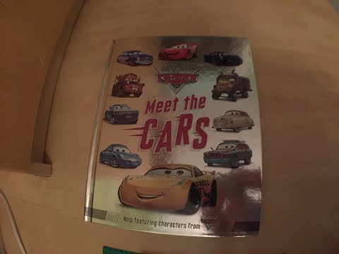 Disney Pixar Cars 3 MEET THE CARS BOOK WITH CARS 3 CHARACTERS!