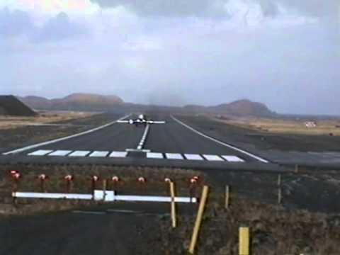 Reeve Aleutian Airways takeoff from Adak, Alaska - Dec 9,1994