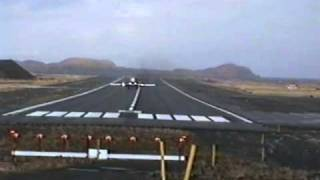 Reeve Aleutian Airways takeoff from Adak, Alaska - Dec 9,1