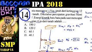 prediksi un IPA smp 2018 , 'bocoran' ucun, ujicoba UN dki 1A  no 14 kekekalan energi mekanik