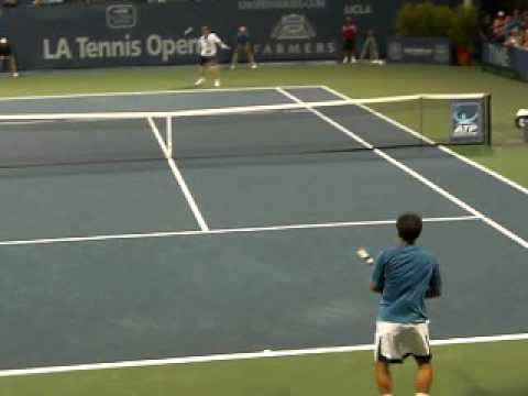 Michael Chang gets dropped by Courier