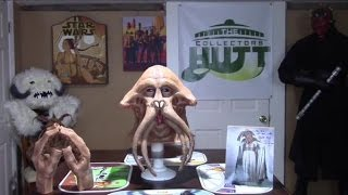 Star Wars Tessek Squid Head  Mask & Hand Set From Return Of The Jedi  Plus Autograph!!