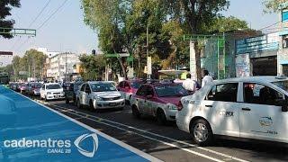 Taxitas capitalinos piden la desaparición del servicio Uber