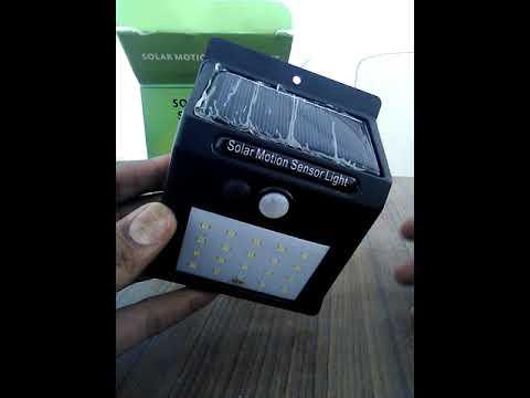 Solar powered Garden Light with motion sensor