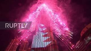 United Arab Emirates: Dubai's Burj Khalifa illuminates the skies during NYE celebrations