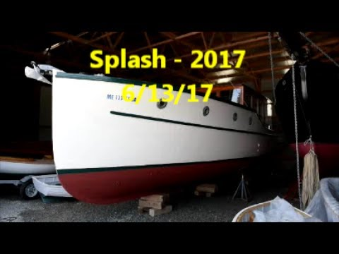 Launching my 1936 wooden boat June 13, 2017