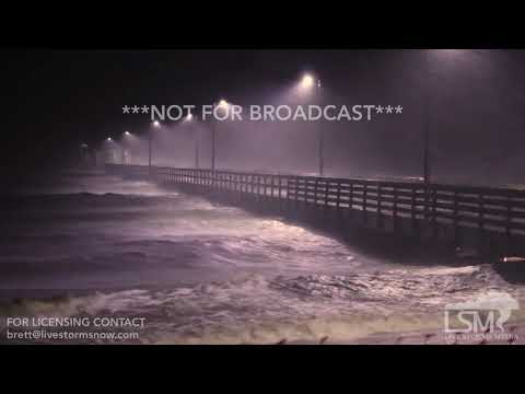 10-07-2017 Biloxi MS Hurricane Nate winds and rain 9pm CDT