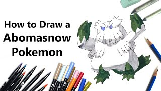 How to Draw Abomasnow from Pokemon [Speed Drawing]