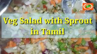 Vegetable Salad with Sprout | Easy Salad | Healthy Food