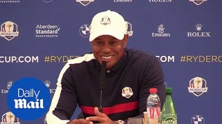 Ryder Cup 2018: Golf star Tiger Woods speaks to the press