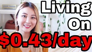 EXTREME BUDGETING: Living on Only 43 Cents in Los Angeles // Cherry Tung