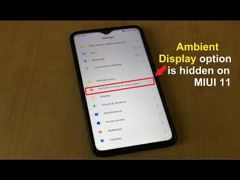 Ambient Display option