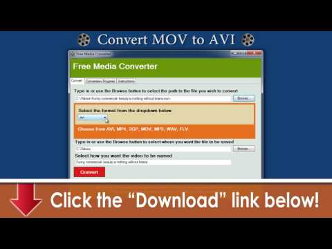 Convert MOV to AVI & All Formats -- Free Download