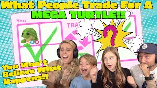 What People Trade For A MEGA TURTLE!! *You Won't Believe What Happens!!* Roblox Adopt Me!