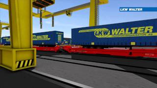 LKW WALTER Combined Transport Rail/Road (3D Animation)