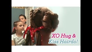 XO (Hug & Kiss) Hairdo | Valentine's Day | Cute Girls Hairstyles