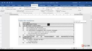 Word -  Rapport Mise en forme RAPIDE