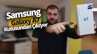 3 Kameralı Samsung Galaxy A7 2018 Kutusundan Çıkıyor!