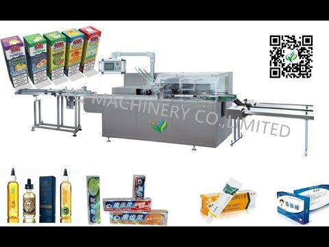 automatic horizontal cartoning machine 80bpm for USA client vape E juice boxes packaging equipment