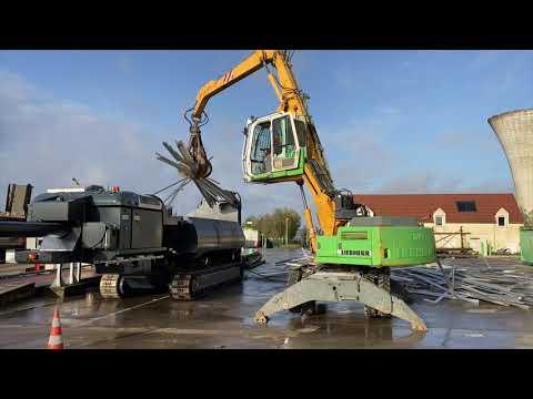 LEFORT shear/baler Trax600 cutting aluminium