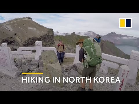 Hiking in North Korea: Foreign tourists hike on Mount Paektu volcano for first time