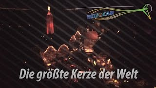 Die größte Kerze der Welt | Weihnachtsmarkt Schlitz