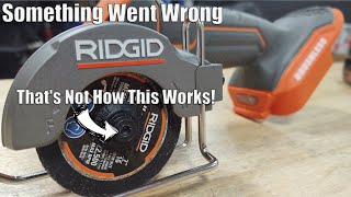 "I Broke It! | RIDGID 18-Volt Sub-Compact Brushless 3"" Multi-Material Saw Review"