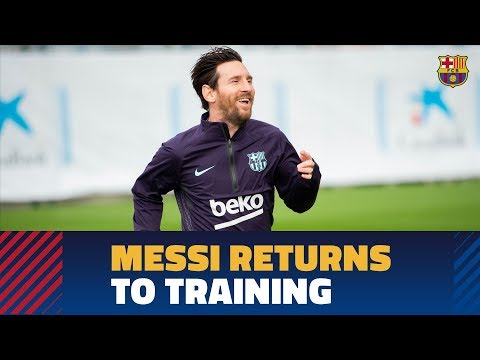 Leo Messi is back on training at the Ciutat Esportiva