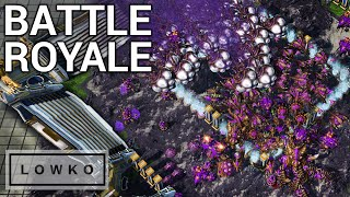 StarCraft 2: BATTLE ROYALE! (Pro Gamer Free-For-All)