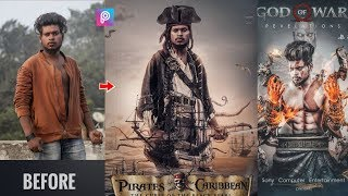PicsArt Pirates Of The Caribbean Movie Poster Editing Tutorial Step By Step In Picsart In Hindi